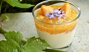 Verrine fromage blanc et abricot