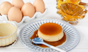 Crème caramel au sirop d'érable