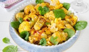 Salade de chou-fleur croustillant