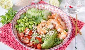 Buddha bowl crevettes sarrasin