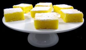 Petits carrés fondants au citron