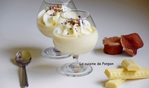 Crème au chocolat blanc, sans oeuf et sans farine