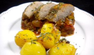 Filet mignon de porc aux légumes du soleil