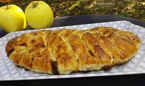 Tresse feuilletée aux pommes et au sirop d'érable