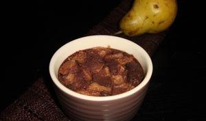 Mini clafoutis aux poires, souchet et chocolat