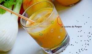 Jus vitaminé pomme, fenouil et graines de chia, vegan