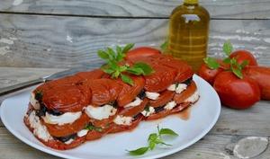 Terrine de tomates confites au chèvre