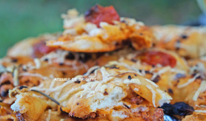 Fougasse chorizo et tomates séchées