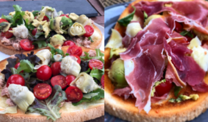 Bruschettas en deux versions