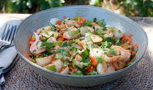 Salade thaïe aux crevettes, IG bas