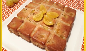 Gâteau aux prunes et à la crème fraîche