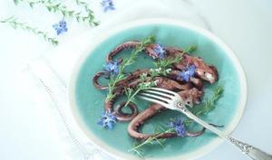 Poulpe confit à l'huile d'olive au thym comme en Crète * 1,2,3...Dégustez !
