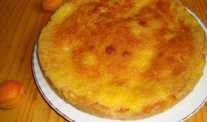 Gâteau en 2 temps aux abricots