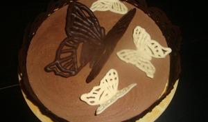 Papillons volants en chocolat