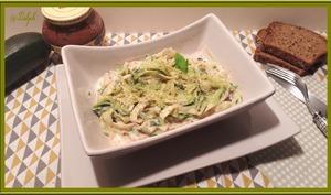 Salade de courgettes sauce moutarde