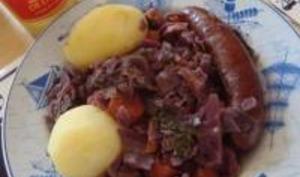Chou Rouge et Carottes aux Saucisses Alsaciennes