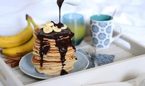 Pancakes à la banane et cannelle