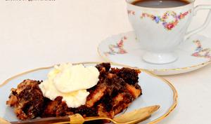 Cake de brownie et Caramel.