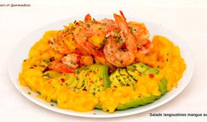 Salade de langoustines à la mangue et à l'avocat selon Gordon Ramsay