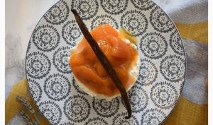 Fontainebleau aux abricots vanillés -