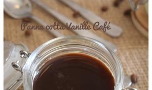 Panna cotta vanille café -