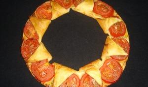 Tarte couronne aux tomates et à la moutarde