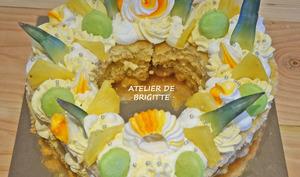 Heart Cake Ananas, Mangue et Noix de Coco