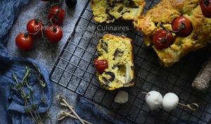 Cake salé aubergines et Mozzarella