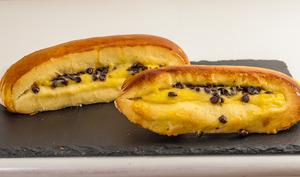 Brioche suisse à la crème pâtissière et aux pépites de chocolat