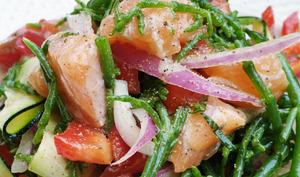 Salade de salicornes et saumon