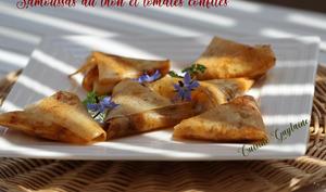 Samoussas au thon et tomates confites