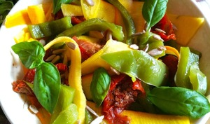 Salade de poivrons grillés au barbecue