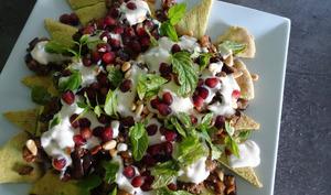 Salade Fattouche à la viande de bœuf et aubergine