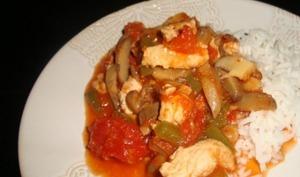 Escalopes de dinde aux tomates, aux champignons et aux épices cajun