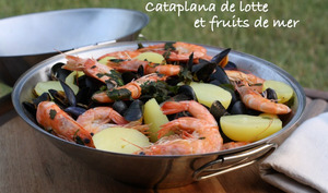 Cataplana de lotte et fruits de mer