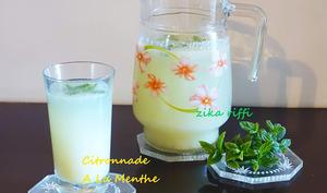 Citronnade au citron bio et à la menthe
