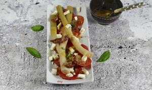 Poireaux crayons et tomates mozza