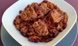 Haricots rouge à la viande et au coco