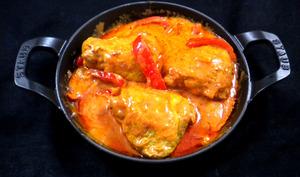 Poulet aux poivrons, tomates et mascarpone