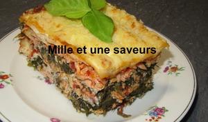 Lasagne au saumon et épinards
