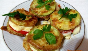 Mini-pizzas de courgettes