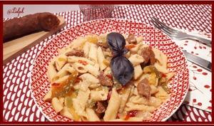 One pot Pasta chorizo et poivrons au Cookéo