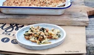 Crumble de blettes au gorgonzola