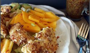 Salade exotique au poulet pané coco