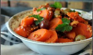 Fricot de carottes aux olives