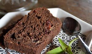 Gâteau au chocolat  et aux cranberrys