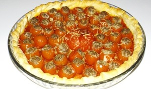 Tarte aux mini tomates farcies
