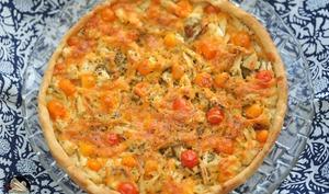 Tarte poulet tomates