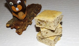 Gâteau du matin de l'écureuil aux noisettes