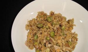 Riz basmati et légumes secs aux petits pois et au curry